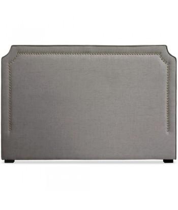 Tête de lit Cloutée 180cm Tissu Taupe