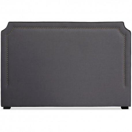 Tête de lit Cloutée 180cm Tissu Gris