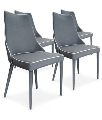 chaise scandinave design tissu gris pas cher scandinave deco. Black Bedroom Furniture Sets. Home Design Ideas