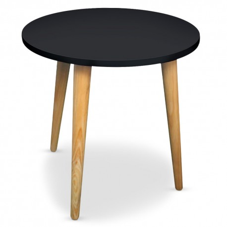 Table basse ronde scandinave Noir