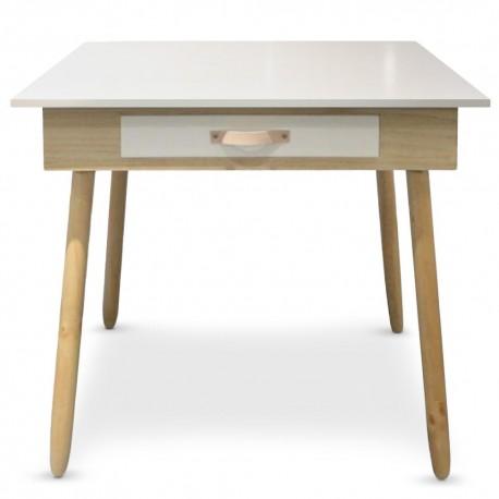 Bureau avec tiroir scandinave Blanc