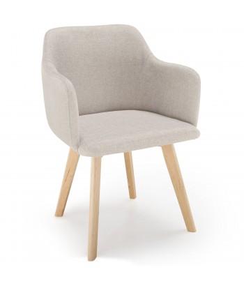 Chaise scandinave Design Tissu Beige