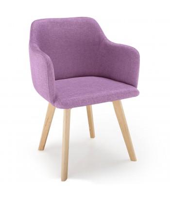 Chaise scandinave Design Tissu Violet