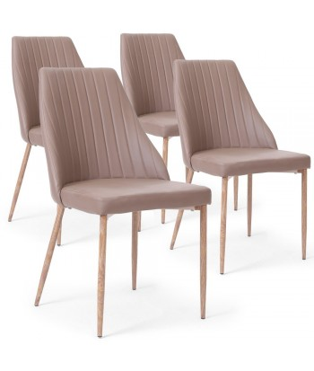 Lot de 4 chaises Anneke Taupe pas cher