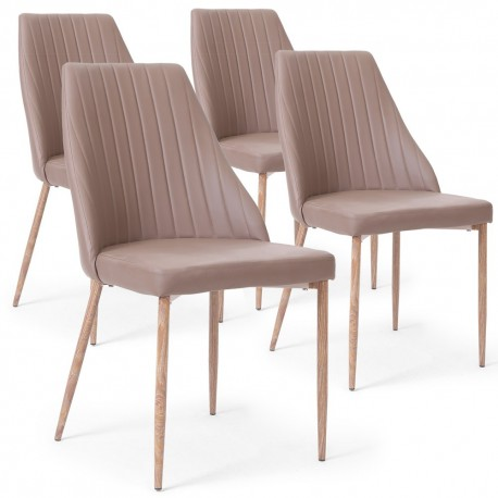 Lot de 4 chaises Anneke Taupe