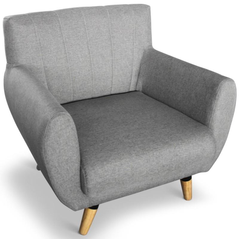 fauteuil scandinave helga gris pas cher scandinave deco. Black Bedroom Furniture Sets. Home Design Ideas