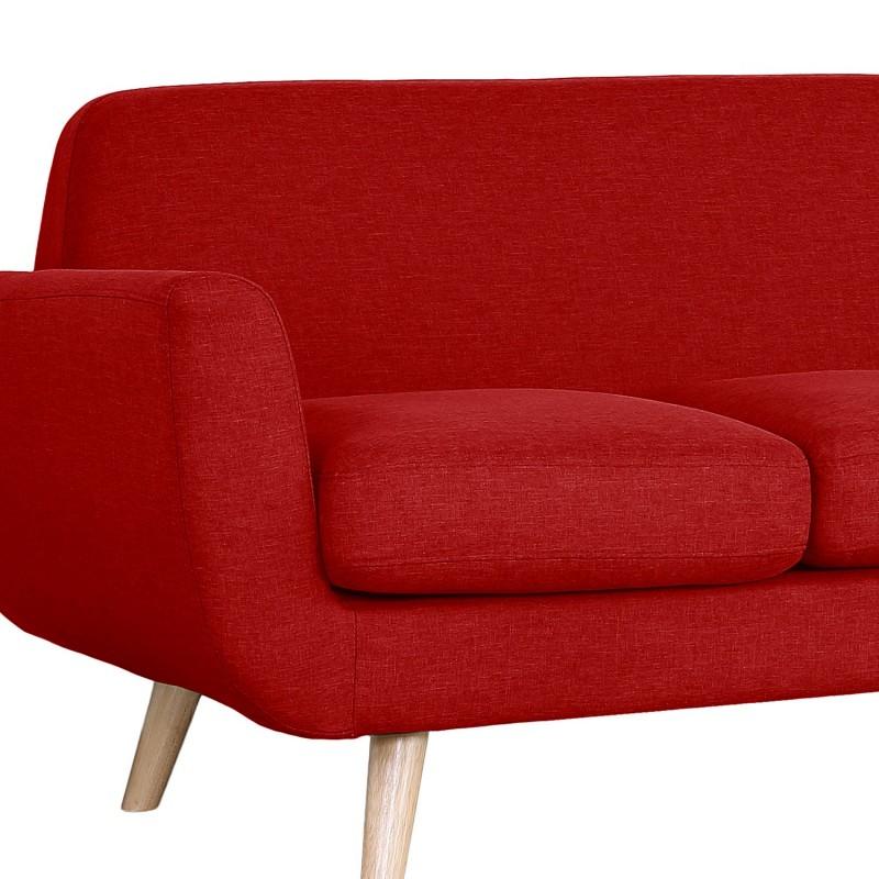 canap scandinave 3 places karina tissu rouge pas cher scandinave deco. Black Bedroom Furniture Sets. Home Design Ideas