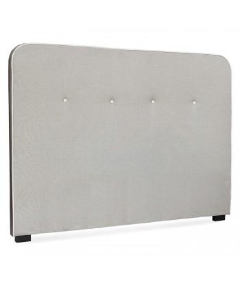 Tête de lit Scandinave Kirstyn 160cm Tissu Beige Liseré blanc pas cher