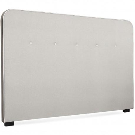 Tête de lit Scandinave Kirstyn 180cm Tissu Beige Liseré blanc pas cher