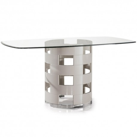 Table Pied rond Taupe