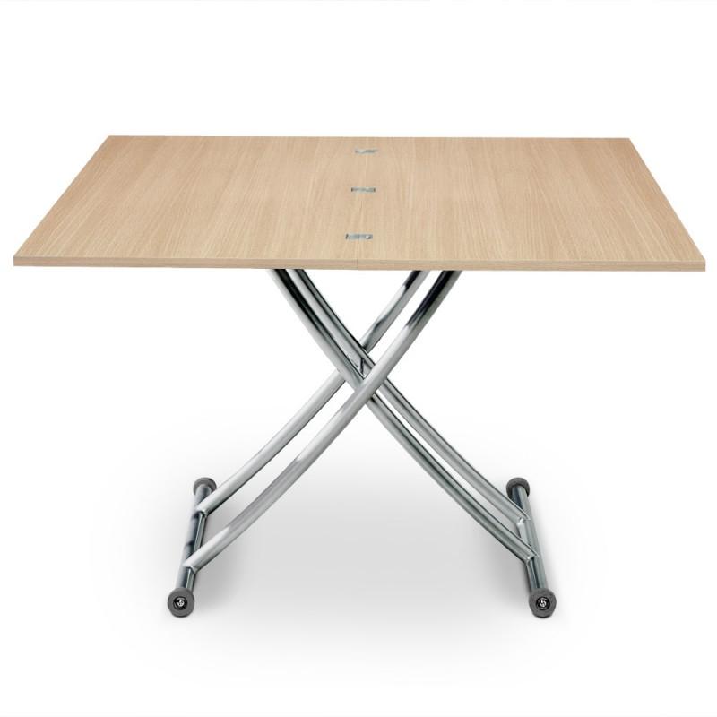 table basse relevable scandinave ch ne clair pas cher. Black Bedroom Furniture Sets. Home Design Ideas