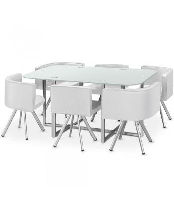 Table Scandinave Grand Format Blanc pas cher