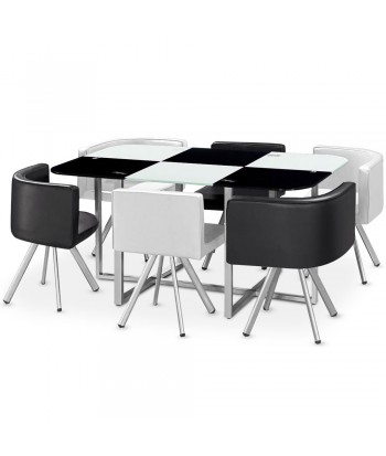 Table Scandinave Grand Format Bicolore Noir et Blanc