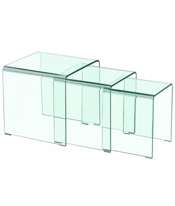 Table basse gigogne design Transparent pas cher