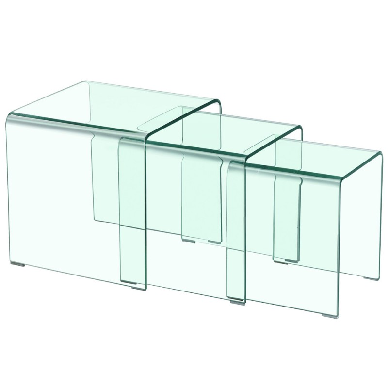 Table basse gigogne design transparent pas cher for Deco fr table basse