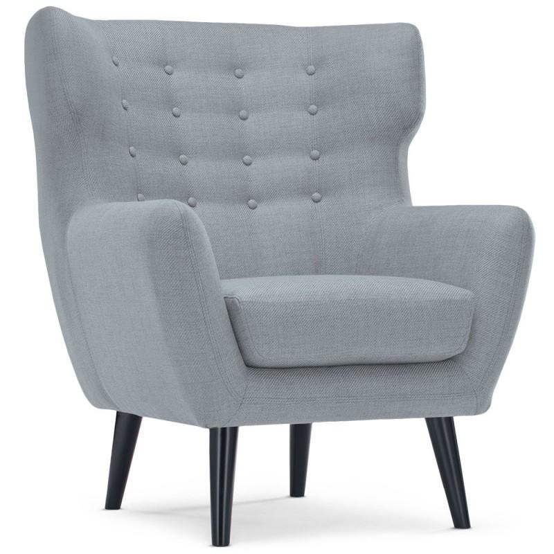 fauteuil scandinave a ro tissu gris pas cher scandinave deco. Black Bedroom Furniture Sets. Home Design Ideas