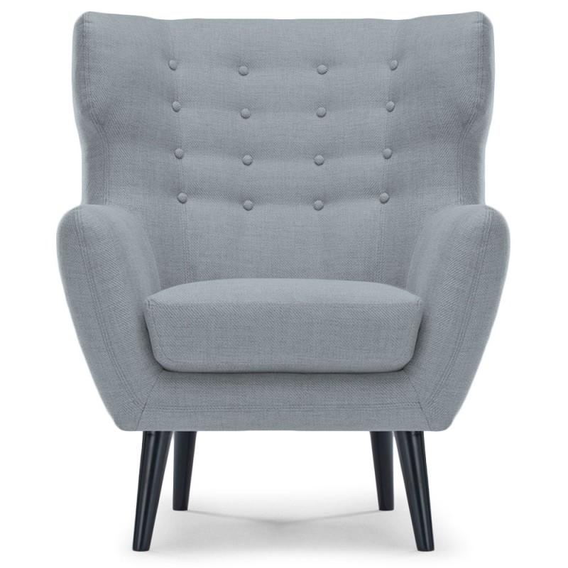 fauteuil tissu gris pas cher id e. Black Bedroom Furniture Sets. Home Design Ideas