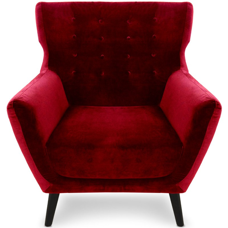 fauteuil scandinave a ro velours rouge pas cher scandinave deco. Black Bedroom Furniture Sets. Home Design Ideas