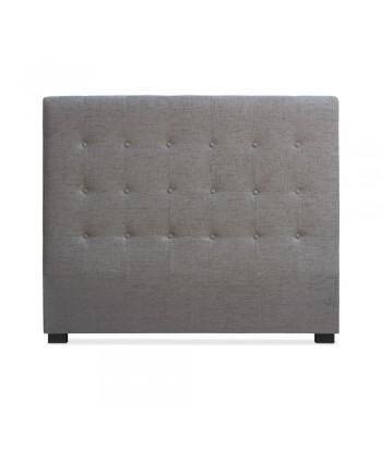Tête de lit Matelassée 140cm Tissu Taupe pas cher