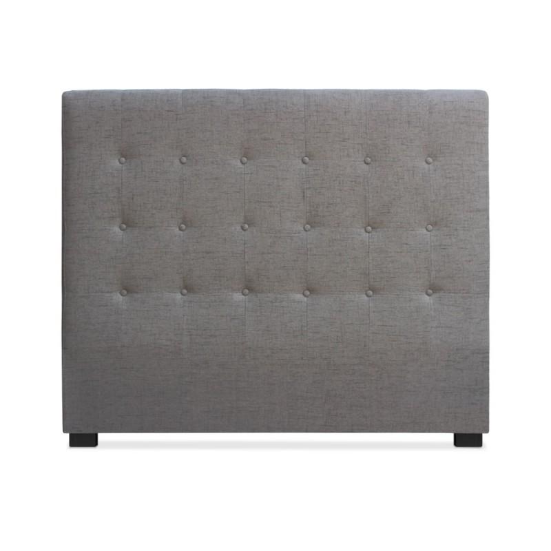 t te de lit matelass e 140cm tissu taupe pas cher. Black Bedroom Furniture Sets. Home Design Ideas