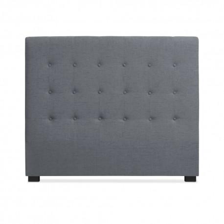 Tête de lit Matelassée 140cm Tissu Gris pas cher