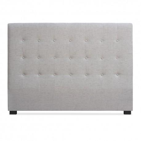 Tête de lit Matelassée 160cm Tissu Beige pas cher