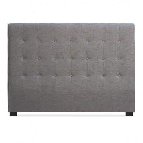 t te de lit matelass e 160cm tissu taupe pas cher. Black Bedroom Furniture Sets. Home Design Ideas