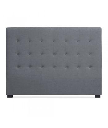 Tête de lit Matelassée 160cm Tissu Gris