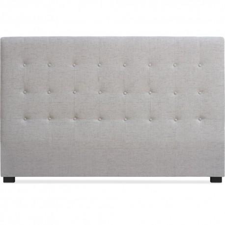 Tête de lit Matelassée 180cm Tissu Beige pas cher