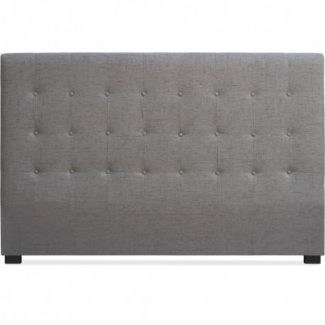 Tête de lit Matelassée 180cm Tissu Taupe pas cher