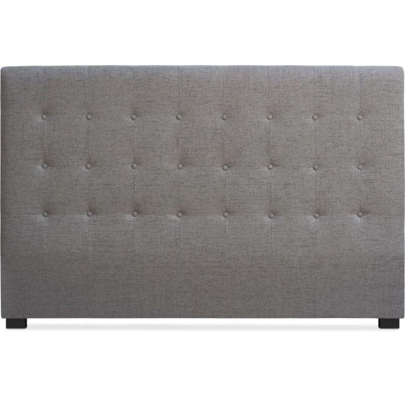 t te de lit matelass e 180cm tissu taupe pas cher. Black Bedroom Furniture Sets. Home Design Ideas
