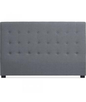 Tête de lit Matelassée 180cm Tissu Gris