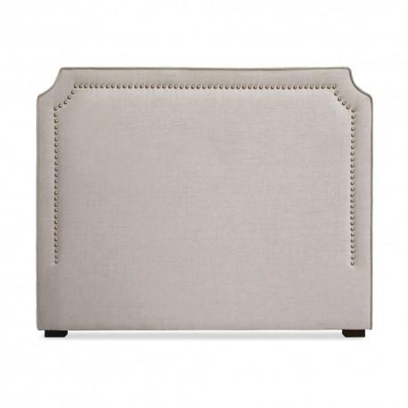t te de lit clout e 140cm tissu beige pas cher. Black Bedroom Furniture Sets. Home Design Ideas