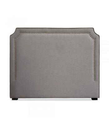 Tête de lit Cloutée 140cm Tissu Taupe