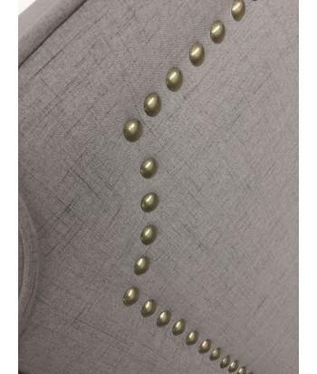 Tête de lit Cloutée 160cm Tissu Taupe