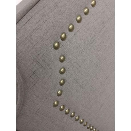Tête de lit Cloutée 160cm Tissu Taupe pas cher