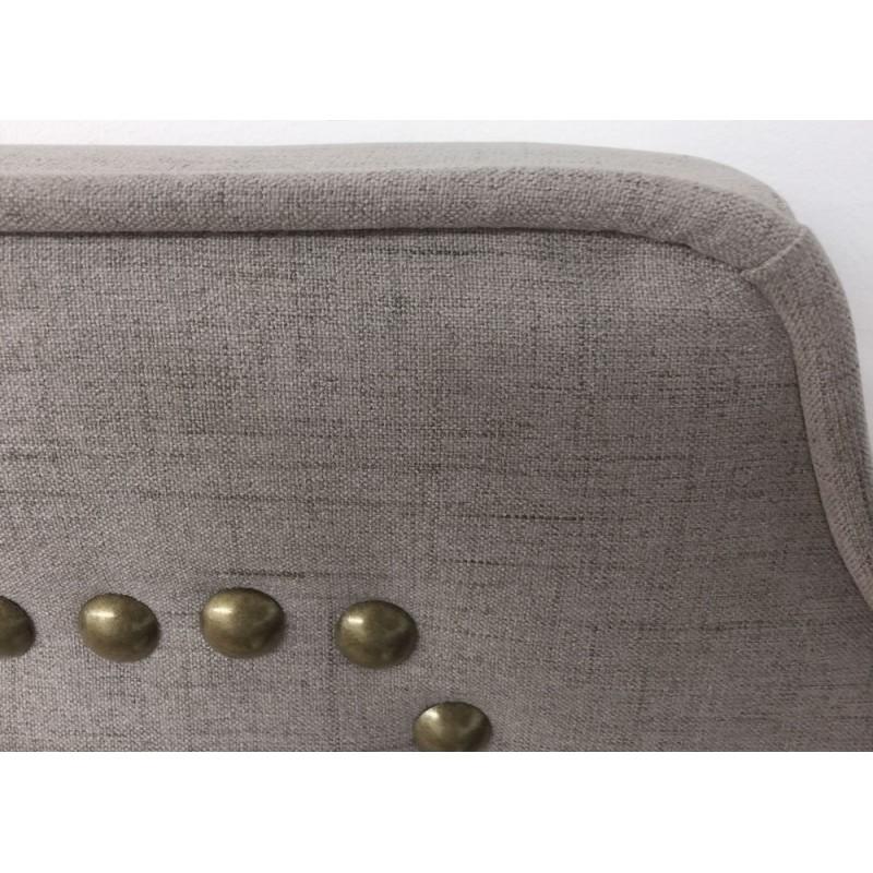 t te de lit clout e 160cm tissu taupe pas cher. Black Bedroom Furniture Sets. Home Design Ideas