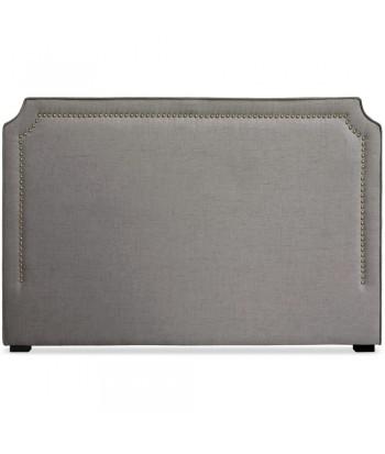 Tête de lit Cloutée 180cm Tissu Taupe pas cher