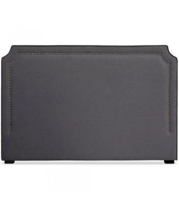 Tête de lit Cloutée 180cm Tissu Gris pas cher