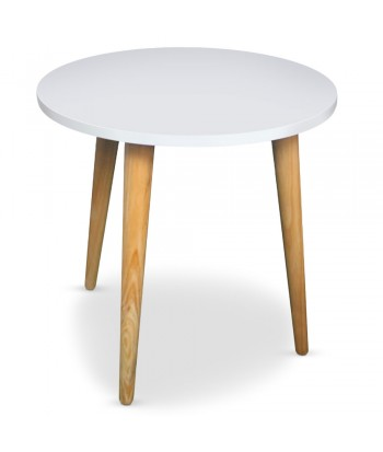 Table basse ronde scandinave Blanc pas cher