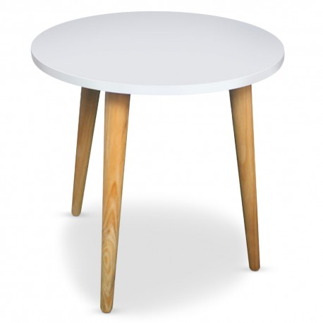 Table basse ronde scandinave Blanc