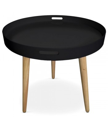 Table d'appoint ronde scandinave Noir