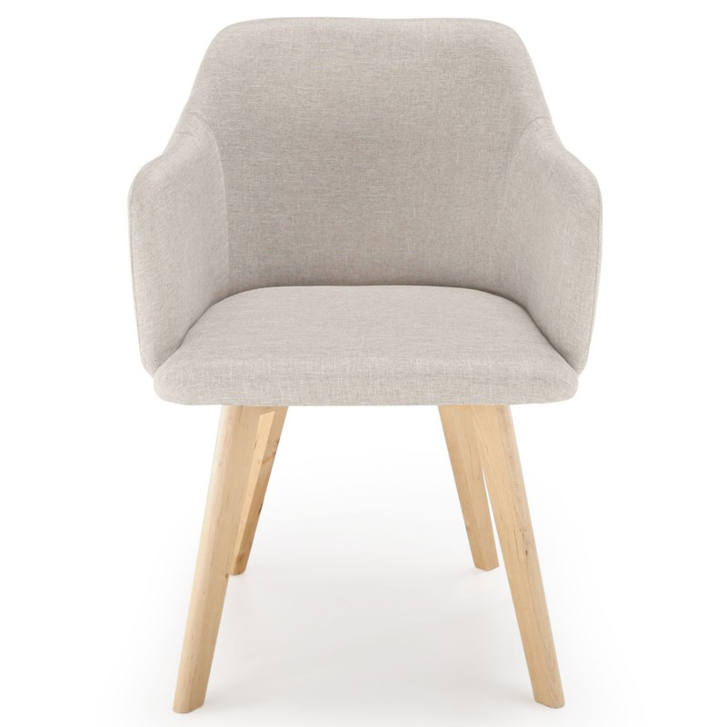Chaise scandinave design tissu beige pas cher scandinave for Chaise beige pas cher