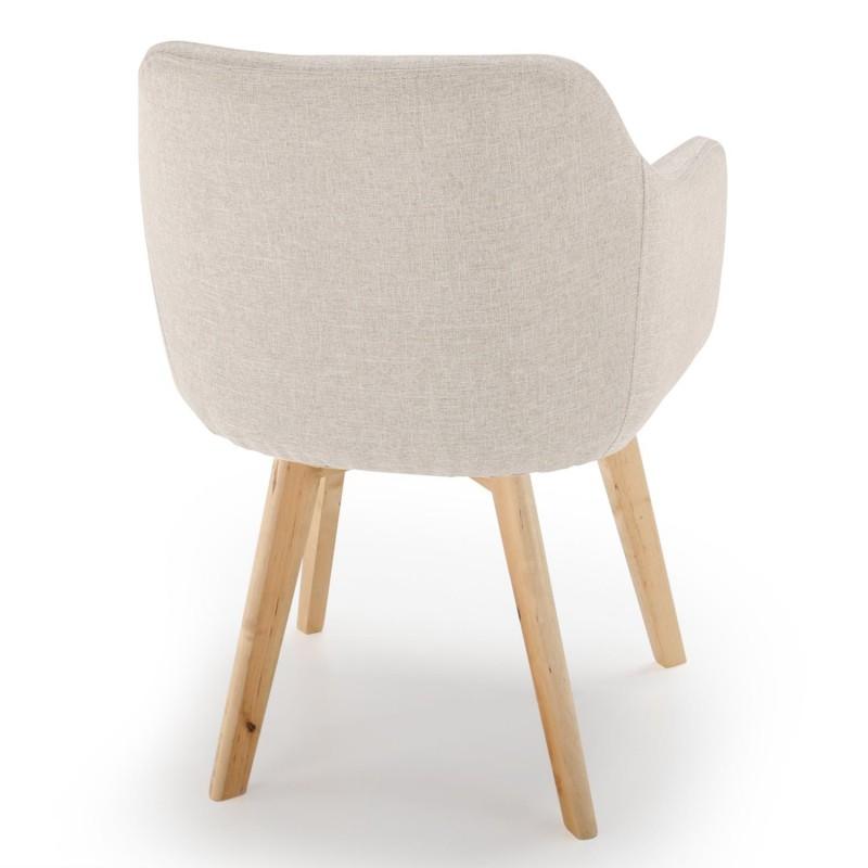 chaise scandinave design tissu beige pas cher scandinave deco. Black Bedroom Furniture Sets. Home Design Ideas