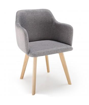 Chaise scandinave Design Tissu Gris pas cher