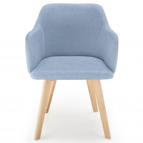 Chaise scandinave Design Tissu Bleu