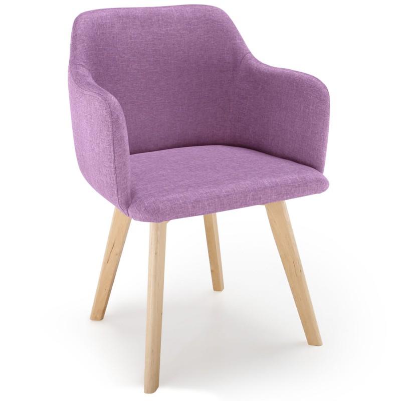 chaise scandinave design tissu violet pas cher. Black Bedroom Furniture Sets. Home Design Ideas