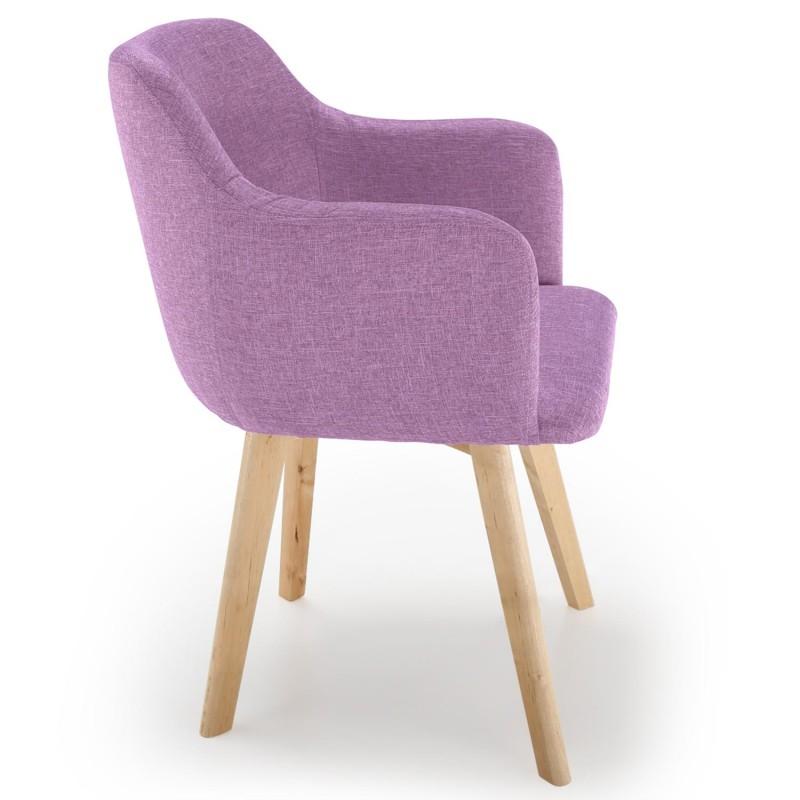 Chaise scandinave Design Tissu Violet pas cher Scandinave Deco