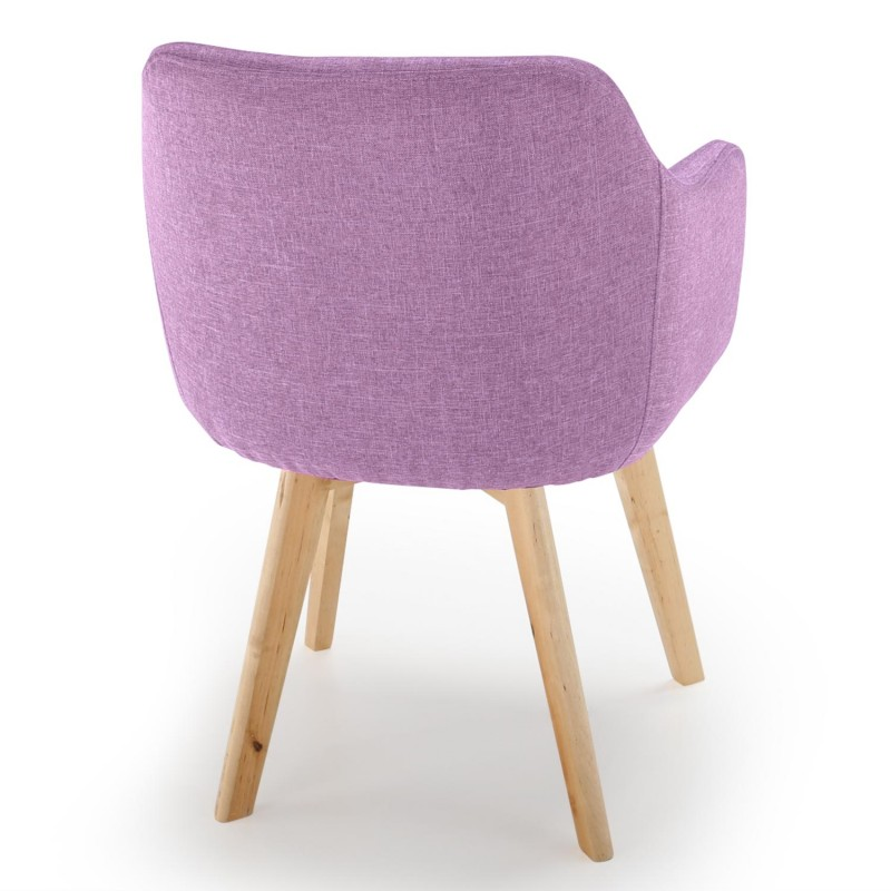 chaise scandinave design tissu violet pas cher scandinave deco. Black Bedroom Furniture Sets. Home Design Ideas