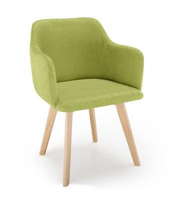 promo chaise scandinave design tissu vert pistache - Chaise Scandinave Beige